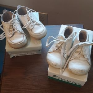 2 PAIRS STRIDE RITE WHITE WALKING SHOES SIZE 4/4.5
